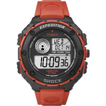 שעון TIMEX SHOCK דיגיטאלי כתום דגם TS49984