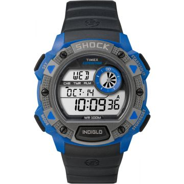 שעון TIMEX SHOCK דיגיטאלי דגם  TSW4B00700 - שחור/כחול