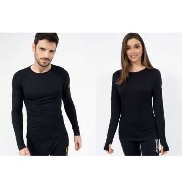 חולצה טרמית-THERMAL BASE LAYER SHIRT-UNISEX-BLACK-XL